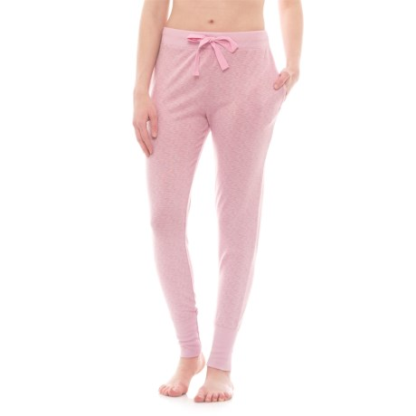Jaclyn Intimates Whisper Drawstring Jogger Pajama Pants (For Women) in Cameo Pink