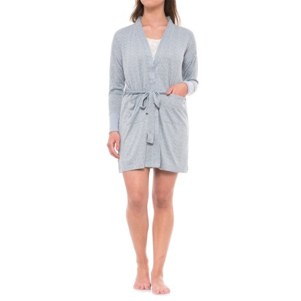 1c067e404c Jaclyn Intimates Whisper Kimono Robe - Long Sleeve (For Women) in  Tradewinds - Closeouts