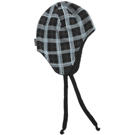Jacob Ash Attaboy Edge Plaid Flap Hat - Fleece Lining (For Men and Women) in Anthracite