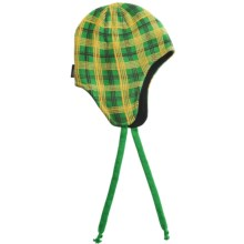 Jacob Ash Attaboy Edge Plaid Flap Hat - Fleece Lining (For Men and Women) in Kelly Green - Closeouts