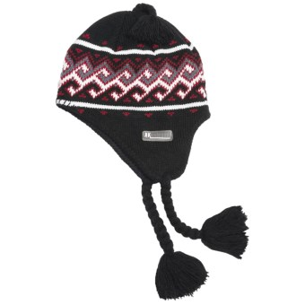 Jacob Ash Attakid Beanie Hat - Jacquard Knit (For Toddler Boys) in Black Combo