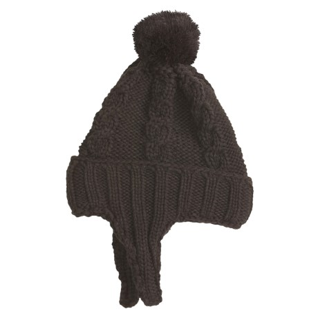 Jacob Ash Attakid Kiddie Kable Flap Cap Hat (For Kids) in Chocolate Brown
