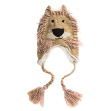 Jacob Ash Attakid Knit Animal Hat - Ear Flaps (For Toddlers) in Lion - Closeouts