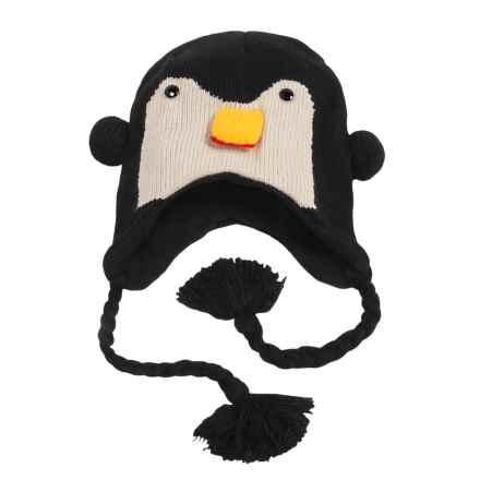Jacob Ash Attakid Knit Animal Hat - Ear Flaps (For Toddlers) in Penguin - Closeouts