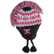 Jacob Ash Attakid Mohawk Hat - Ear Flaps, Fleece Lining (For Kids) in Light Grey Combo - Closeouts