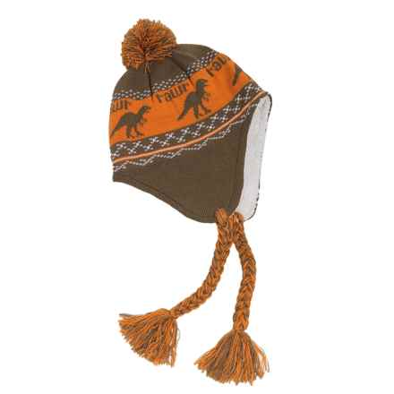 Jacob Ash Attakid Rawr Knit Hat (For Toddlers) in Timberwolf - Closeouts