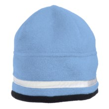 Jacob Ash Attakid Reflective Stripe Beanie Hat - Polartec® Fleece (For Kids) in Galaxy - Closeouts