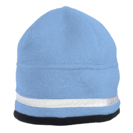 Jacob Ash Attakid Reflective Stripe Beanie Hat - Polartec® Fleece (For Kids) in Galaxy