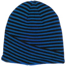 Jacob Ash Attakid Striped Beanie - Fleece Lined (For Little and Big Kids) in Blue - Closeouts