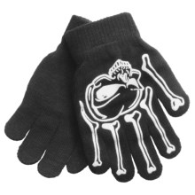 Jacob Ash Attakid Super Stretch Magic Gloves One Size (For Kids) in Anthracite/Skull & Bones - Closeouts