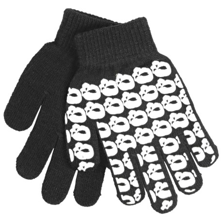 Jacob Ash Attakid Super Stretch Magic Gloves One Size (For Kids) in Black/White Skull Pattern