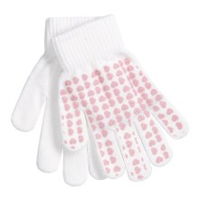 Jacob Ash Attakid Super Stretch Magic Gloves One Size (For Kids) in Bright White/Hearts - Closeouts