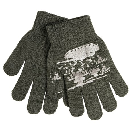 Jacob Ash Attakid Super Stretch Magic Gloves One Size (For Little and Big Kids) in Green/Tan Tanks And Choppers
