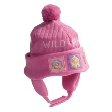 Jacob Ash Attakid Wild Bloom Ribbed Knit Hat (For Infant Girls) in Aurora Pink - Closeouts