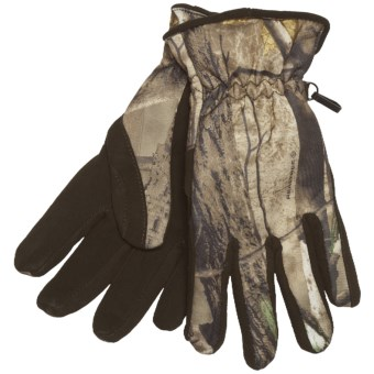 Jacob Ash Camo Gloves - Deer Suede Palm, Insulated (For Men) in Realtree Ap