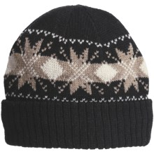 Jacob Ash EcoRaggs® Diamond Snowflake Beanie Hat - Wool Blend (For Men) in Anthracite - Closeouts