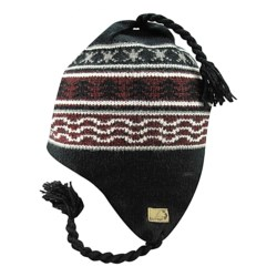 Jacob Ash EcoRaggs® Fjord Earflap Hat (For Men and Women) in Terra Black