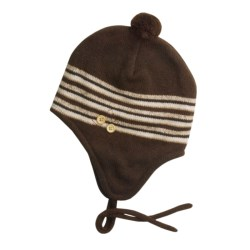Jacob Ash EcoRaggs® Flap Hat w/Twisted Tassel (For Women) in Chocolate