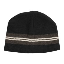 Jacob Ash EcoRaggs® Ribbed Beanie Hat (For Men and Women) in Varsity Stripe Anthracite - Closeouts