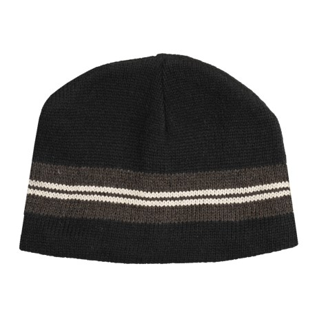 Jacob Ash EcoRaggs® Ribbed Beanie Hat (For Men and Women) in Varsity Stripe Anthracite
