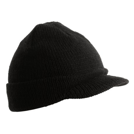 Jacob Ash EcoRaggs® Wool Jeep Cap (For Men and Women) in Black