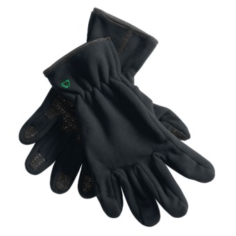 Jacob Ash Fleece Gloves (For Men and Women) in Black
