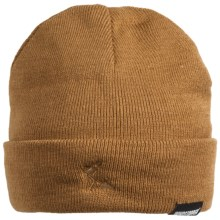Jacob Ash Hot Shot Blue Collar Beanie Hat - Windstopper® (For Men and Women) in Light Brown - Closeouts