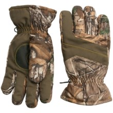 Jacob Ash Hot Shot Brushed Tricot Gloves - Waterproof, Insulated (For Men and Women) in Realtree Ap - Closeouts