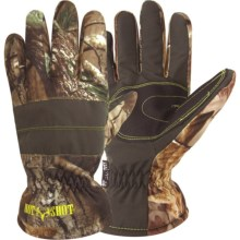 Jacob Ash Hot Shot Brushed Tricot Gloves - Waterproof, Insulated (For Men and Women) in Realtree Xtra - Closeouts