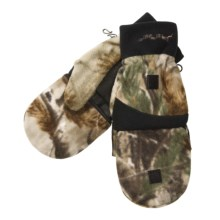 Jacob Ash Hot Shot Camo Fleece Mittens - Thinsulate® Flip-Top (For Men) in Realtree Ap - Closeouts