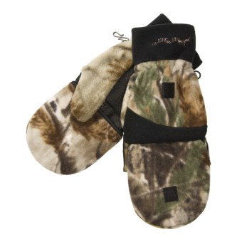 Jacob Ash Hot Shot Camo Fleece Mittens - Thinsulate® Flip-Top (For Men) in Realtree Ap