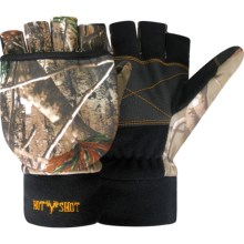 Jacob Ash Hot Shot Fingerless Gloves with Pop-Top Mitten (For Men and Women) in Realtree Ap - Closeouts