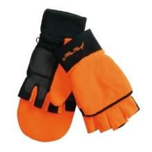 Jacob Ash Hot Shot Fleece Hunting Gloves - Flip-Top, Thinsulate® (For Men) in Blaze Orange - Closeouts