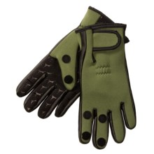 Jacob Ash Hot Shot Foldback Fishing Gloves - Neoprene (For Men) in Olive - Overstock
