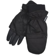 Jacob Ash Hot Shot Fusion Canvas Windstopper® Gloves - Pop Top Mitten, Insulated (For Men) in Black - Closeouts