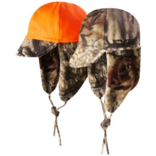 Jacob Ash Hot Shot Fuzzy Fleece Hat - Ear Flap (For Little and Big Kids) in Mossy Oak Break Up Infinity R/Blaze - Closeouts