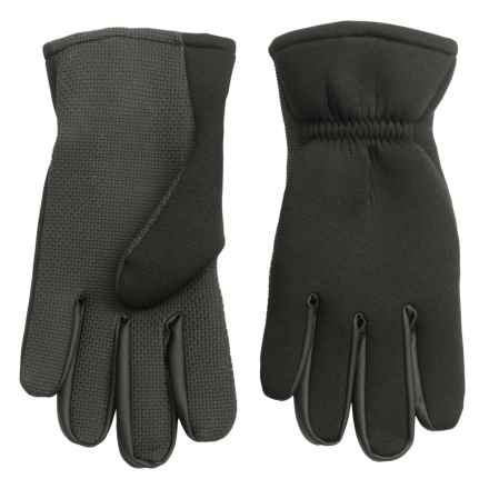 Jacob Ash Hot Shot Neoprene Fishing Gloves - 2mm (For Men) in Black - Closeouts