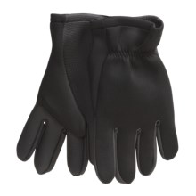 Jacob Ash Hot Shot Neoprene Fishing Gloves - Open Cuff (For Men) in Black - Closeouts