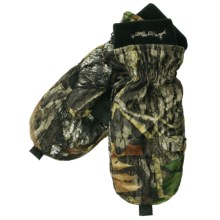 Jacob Ash Hot Shot Pop-Top Mittens - Insulated, Brushed Tricot (For Men) in Mossy Oak Break Up - Closeouts