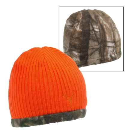 Jacob Ash Hot Shot Reversible Fleece Beanie (For Men and Women) in Blaze/Realtree Xtra - Closeouts