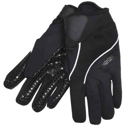 Jacob Ash Hot Shot Torch Windstopper® Gloves - XSF Stretch Fleece (For Men) in Black - Closeouts