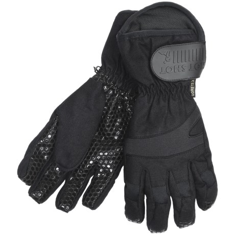 Jacob Ash Hot Shot Wrecking Ball Canvas Gore-Tex® Gloves - Waterproof, Insulated (For Men) in Black