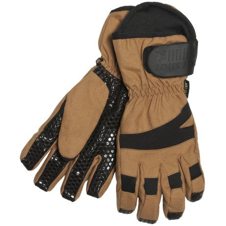 Jacob Ash Hot Shot Wrecking Ball Canvas Gore-Tex® Gloves - Waterproof, Insulated (For Men) in Brown