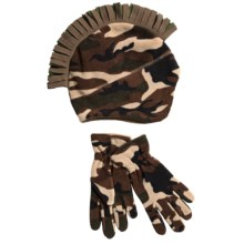 Jacob Ash Igloos Camo Mohawk Beanie and Gloves Set - Fleece (For Little and Big Boys) in Brown Camo - Closeouts