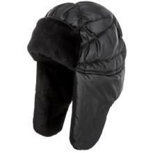 Jacob Ash Igloos Puffer Trapper Hat - Insulated, Fleece Lining (For Women) in Anthracite - Closeouts