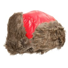 Jacob Ash Igloos Shiny Aviator Hat - Ear Flaps, Faux-Fur Lining (For Big Kids) in Big Red - Closeouts