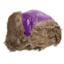 Jacob Ash Igloos Shiny Aviator Hat - Ear Flaps, Faux-Fur Lining (For Big Kids) in Grape - Closeouts