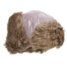 Jacob Ash Igloos Shiny Aviator Hat - Ear Flaps, Faux-Fur Lining (For Big Kids) in Gray Cloud - Closeouts