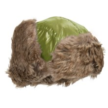 Jacob Ash Igloos Shiny Aviator Hat - Ear Flaps, Faux-Fur Lining (For Big Kids) in Pea Green - Closeouts