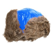 Jacob Ash Igloos Shiny Aviator Hat - Ear Flaps, Faux-Fur Lining (For Big Kids) in Royal Blue - Closeouts